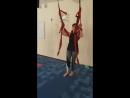 Флай-йога Как я научилась летать. Свечка