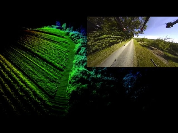 GPS denied Fast Autonomous Flight above and underneath Orchard Trees