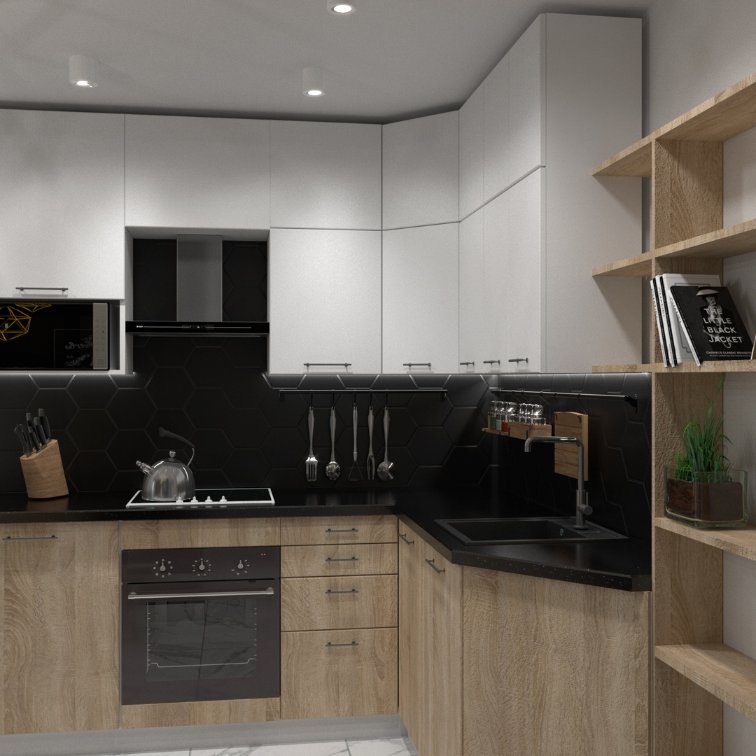 Дизайн однокомнатной квартиры 35,9 кв.