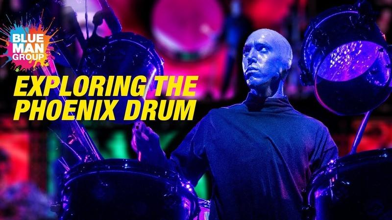 Blue Man Group's Custom Phoenix Drum   Behind Creature Feature in Vegas   CREATIVE CHAOS