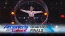 Bello Nock: Comedic Daredevil Takes on Wheel of Death - America's Got Talent 2017