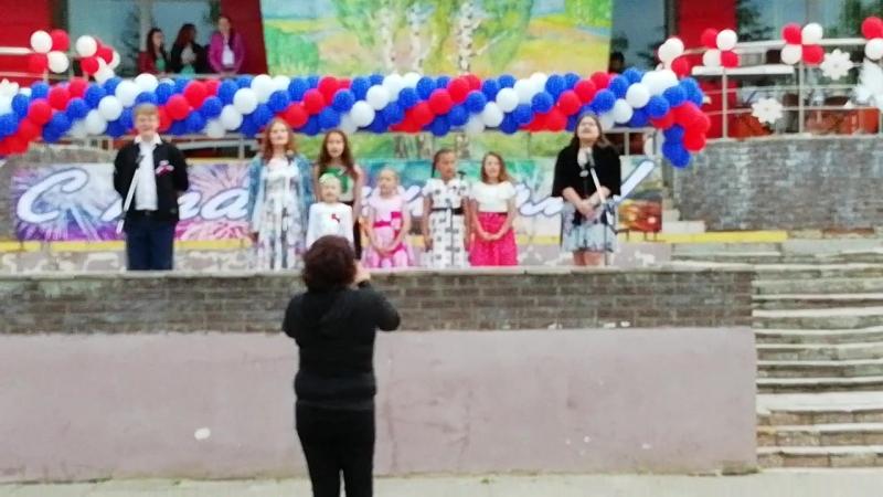 Выступление Аленке🥁 на День России   Р.Д.К ОЗЕРЕЦКИЙ🎤🎧🎼🎵