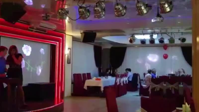 Проекционное оформление интерьера кафе Клондайк г Ульяновск