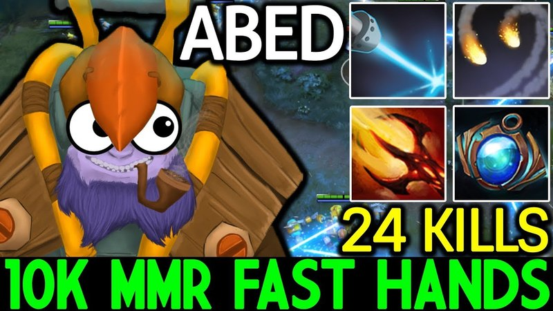 ABED [Tinker] OMG! 10k MMR Fast Hands 24 Kills 7.15 Dota 2