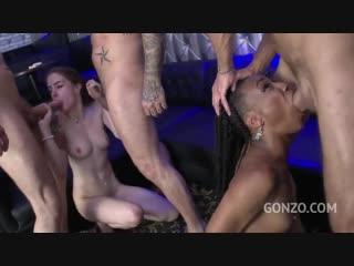 Anna de Ville, Nikki Darling порно porno sex секс anal анал минет big tits assскрытая чернокожая чулки эксгибиционистка куни