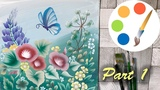 Paint wildflowers with a butterfly, part 1