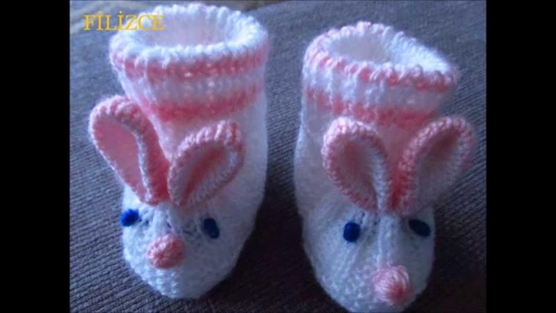 Bebek Tavşan Patik Yapılışı