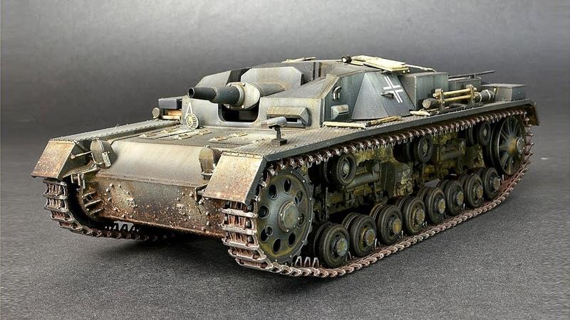 Штурмовое орудие Stug III 0- серия от компании Miniart в масштабе 1:35