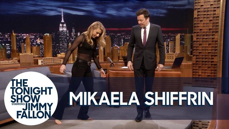 History Making Ski Racer Mikaela Shiffrin Teaches Jimmy to Shuffle Dance