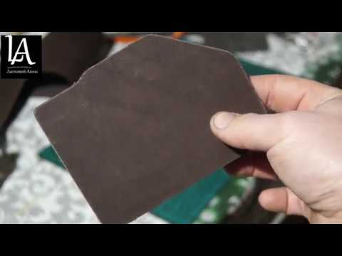 Картхолдер из натуральной кожи. Making leather cardholder