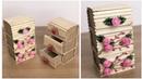 Making Multi Storage Box From Wicker Rope and Popsicle Sticks | Çekmeceli Kutu Yapımı