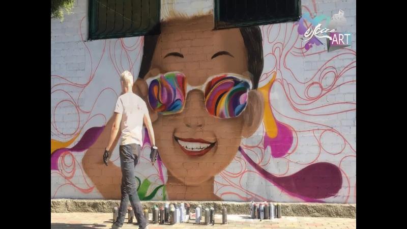 Участие в благотворительном фестивале уличного искусства «ДоброГраффия», 28-29 сентября 2018 год, город Гулькевичи