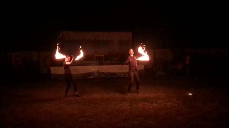 Огненное шоу в яхт-клубе Белая речка