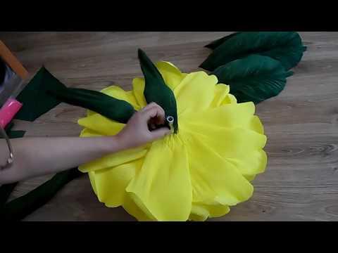 4 часть МАСТЕР КЛАСС БЕСПЛАТНО. как я клею чашелистник ростовые цветы из бумаги