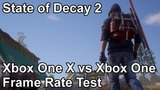 State of Decay 2 Xbox One vs Xbox One X Frame Rate Comparison