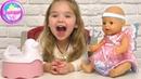 Играем в Беби Борн - купили новое платье ФЕИ Baby Born — интерактивный горшок для куклы