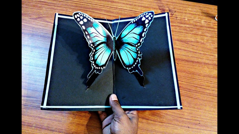 DIY 3D butterfly POP UP card Crafts-Handmade Craft