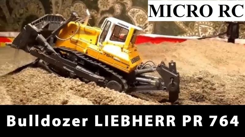 MICRO RC Bulldozer LIEBHERR PR 764 Litronic MICRO RC Model by NZG Scale 1 50 TEST DRIVE