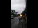 За Старым мостом сгорел автобус