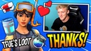 TFUE FINDS A *FRIENDLY* STREAM SNIPER THAT GIVES HIM (FREE) LOOT! Fortnite FUNNY SAVAGE Moments