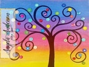 Rainbow Button Tree Acrylic Painting Tutorial LIVE Summer Art Camp for Kids Day 2