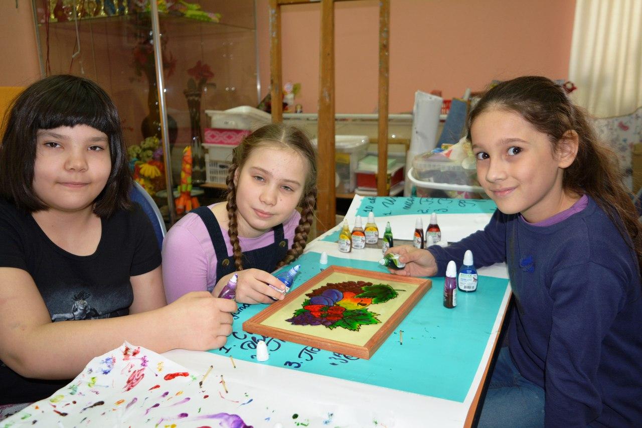 мастер-класс по витражу для воспитанников Московии