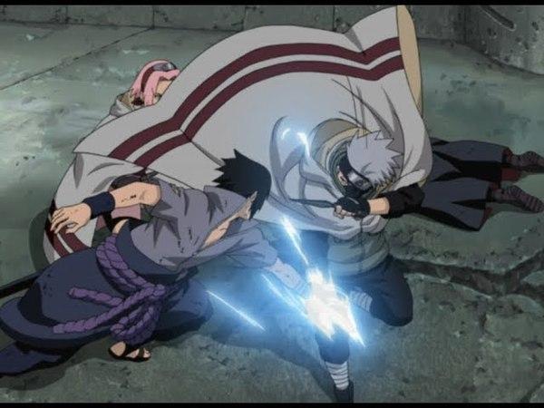 Саске против Наруто, Какаши и Сакуры
