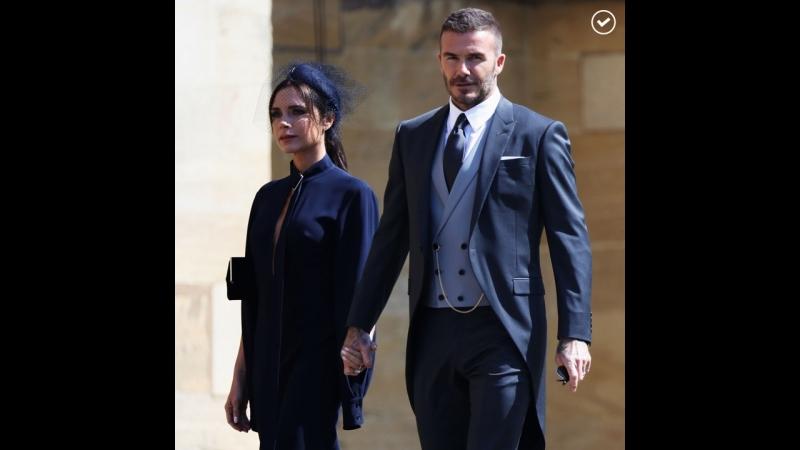 Бекхэмы продают свою одежду со свадьбы принца Гарри и Меган Маркл