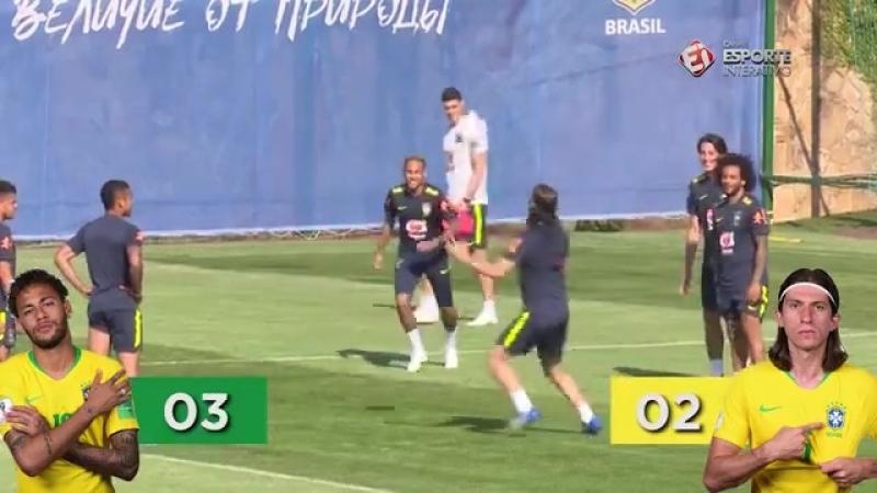 Neymar vs Felipe Luis Two Shot Challenge Ф2018