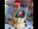 Плетеный цыпленок Закрытие розги внутрь плетения
