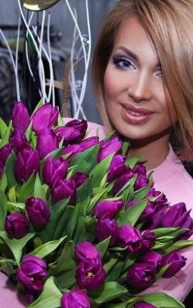 Хочу букет из фиолетовых тюльпанов