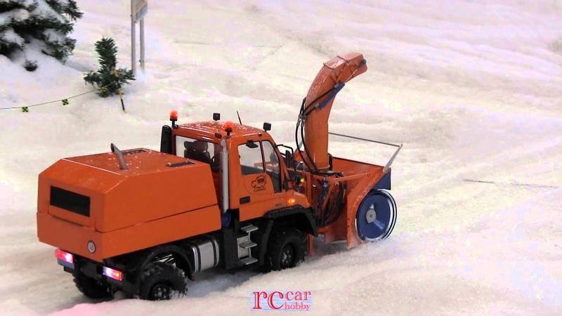 RC Schnee-Fräsen snow blower