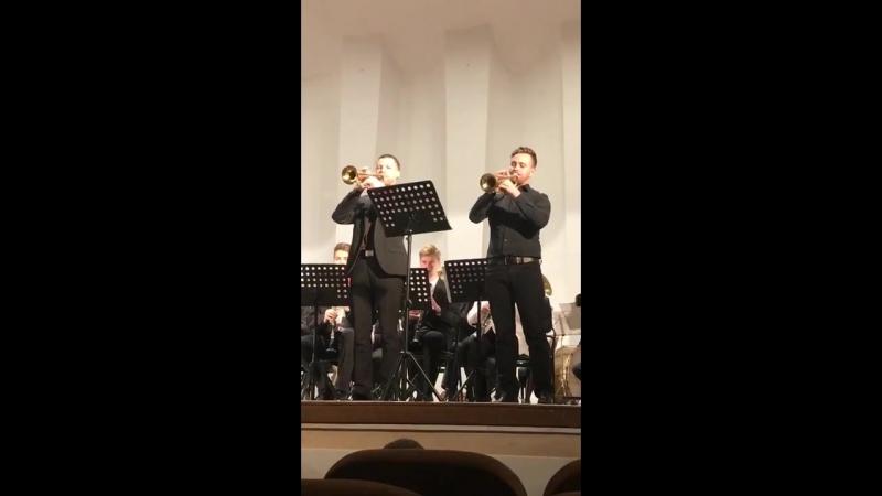 С. Чернецкий. Концертная полька для 2-х корнетов (исп. А. Ершов и Д. Смирнов) (2)