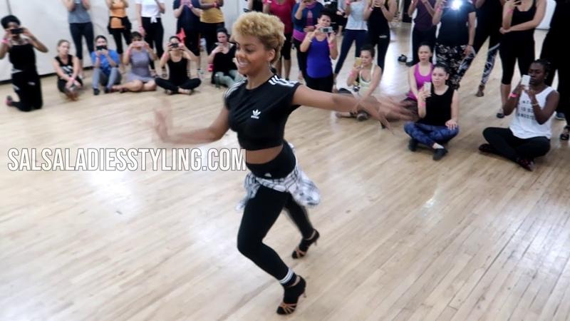 Delia Madera Teaching at Salsa Ladies Styling Intensive NYC