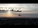 Головокружительный полёт над городом l Акробатический номер на кольце в 100м