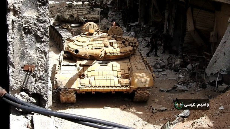 Operations of the Syrian army in Yarmouk camp against terrorist organizations