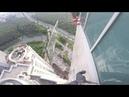 47 этаж стекло 380кг у крана лопнул трос 47 floor double glazed window 380kg crane cable burst