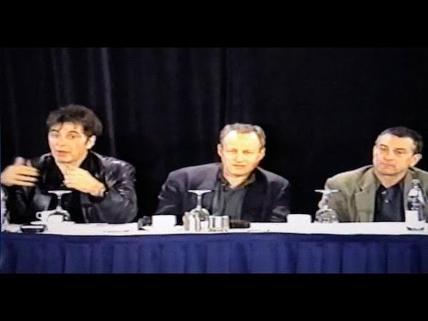 Al Pacino Robert De Niro Michael Mann Heat 1995 Press Conference