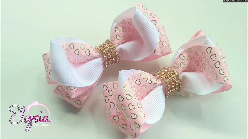Laço Vanessa Fita N5 🎀 Ribbon Bow Tutorial 🎀 DIY by Elysia Handmade