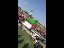 Во время детского фестивая в Баку, унесло ветром батут