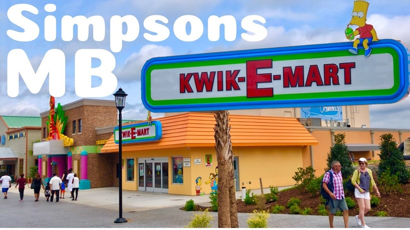 "The Simpsons"" Kwik E Mart in Myrtle Beach SC Tour and Overview Broadway at the Beach"