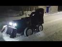 Уборка снега минитрактором-переломкой
