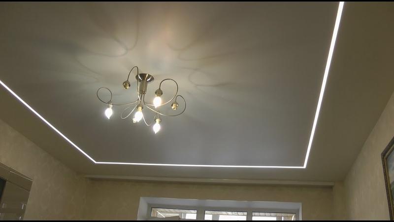 Световые линии: элемент дизайна натяжного потолка