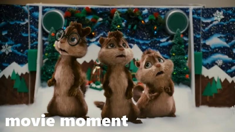 Элвин и бурундуки (2007) - Рождественская песня (3/7) | movie moment