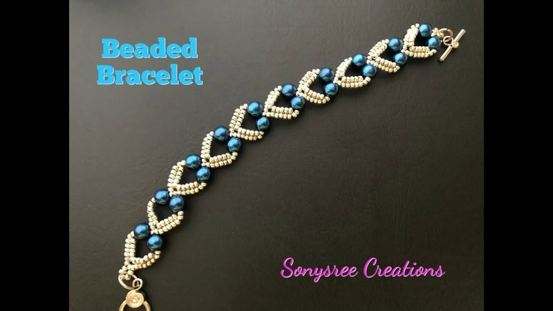 Lovely Hearts Bracelet. DIY Beaded Bracelet. How to make beaded Bracelet 💞