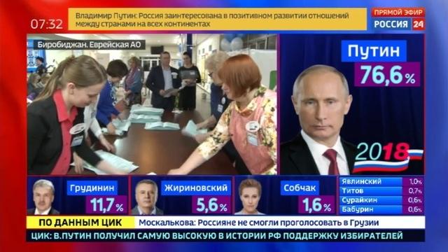 Новости на Россия 24 • В Биробиджане на участок пришел даже старейший житель ЕАО