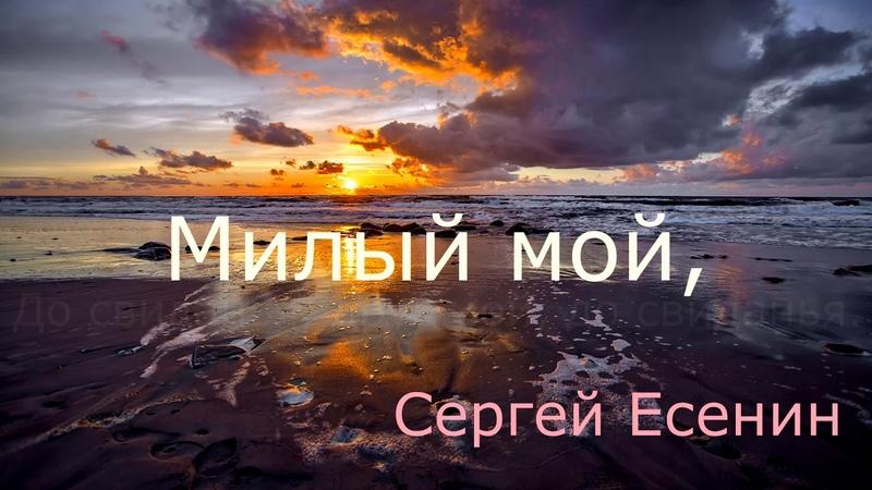 С Есенин До свидания друг мой до свидания