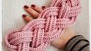 Çok Kolay Halat Örgülü Saç Bandı Tığ İşi Örgü Modelleri Easy Crochet Headband