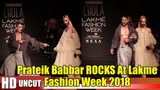 Mulk Actor Prateik Babbar ROCKS The Show At Lakme Fashion Week 2018