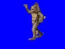 Gachimuchi Monster from the depths on a blue screen Монстр из глубин на синем экране